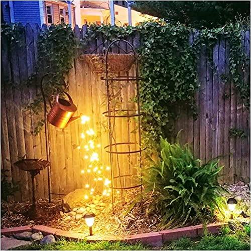 Decoración de luz de decoración de jardín de ducha - Luces de hadas Regadera Luz LED Decoración de luces de cadena estrellada, Luz de noche de hadas estrellada, Estatuas de esculturas de jardín