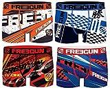 FREEGUN Lot 4 Boxers Homme Microfibre (XL, GP Racing)