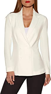 Beyond Travel Women's Wrinkle-Resistant Solid Color Knit Double-Breasted Jacket