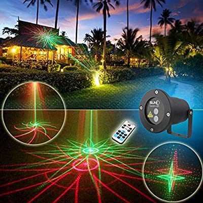 LEEPO Remote Control Lights Outdoor Lawn Christmas Holiday Landscape Waterproof(20RG)