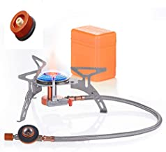Latoo 3500W Camping Gas Stove with Adapter Camping Stove Convert, Folding Camping Stove with Pressure Ignition, Portable Stove, Suitable for Outdoor Backpacking/Hiking