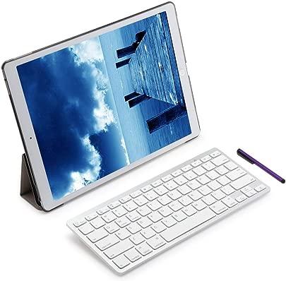 Renaisi Tastatur in Stylus Pen Abnehmbarer drahtloser Bluetooth-Tastatur-Abdeckungsbildschirm Geeignet f r alle Computer Color Schwarz Schätzpreis : 24,58 €