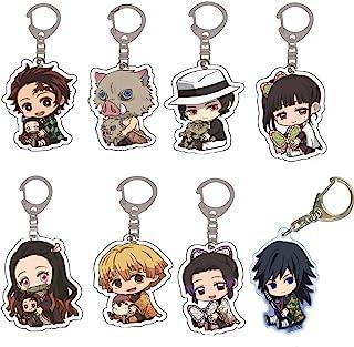 Tryse Demon Slayer Kimetsu no Yaiba Keychain, 8 Pack Demon Slayer Keychains for Anime Demon Slayer Kimetsu no Yaiba Cospla...