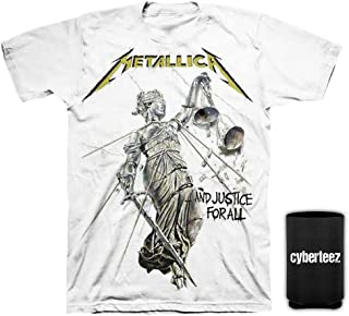 Cyberteez Metallica and Justice for All White T-Shirt S-3XL + Coolie