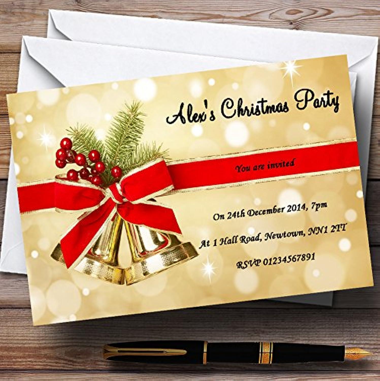 oroen Bells Navidad personalizable invitaciones de fiesta–XI18