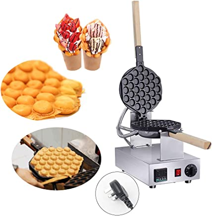 Electric Ice Cream Cone Machine Egg Roll Maker Nonstick Commercial Baker Pastry Making Baking Tools Electric Egg Roll Ice Cream Cone Maker 220V TOPQSC