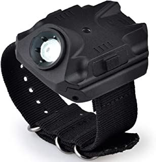 element airsoft Official Store Night-Evolution SF Type Hands-Free Wrist Light High-Output LED Wrist Light Rechargeable Wristlight Multifunction Tactical Light Strobe Mode Flashlight Nylon Band