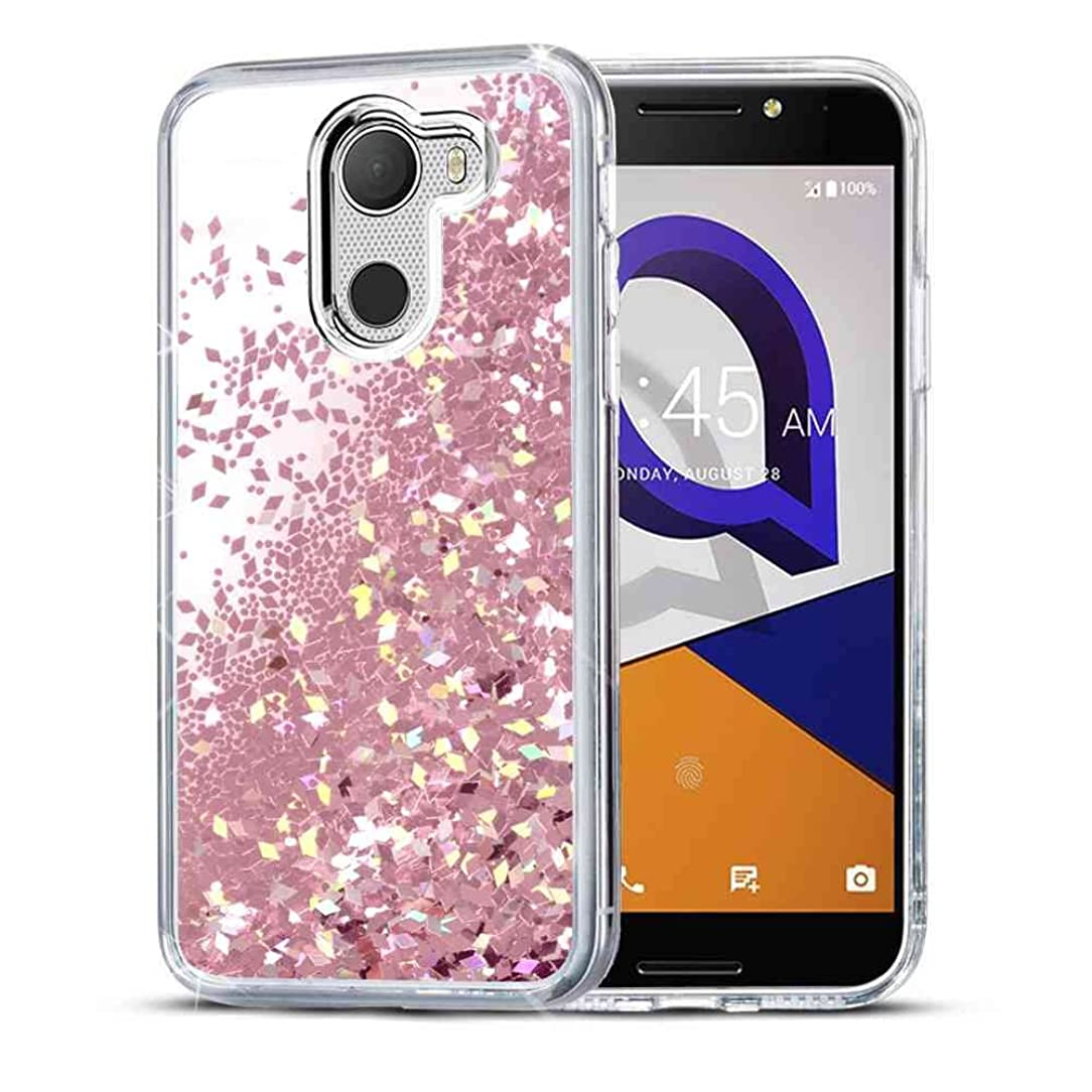 T-Mobile REVVL Case, Alcatel A30 FIERCE / Alcatel A30 Plus / Alcatel Walters Case SuperbBeast Fashion Bling Liquid Floating Glitter Sparkle Girly Clear TPU Bumper Case for Girls Women Children