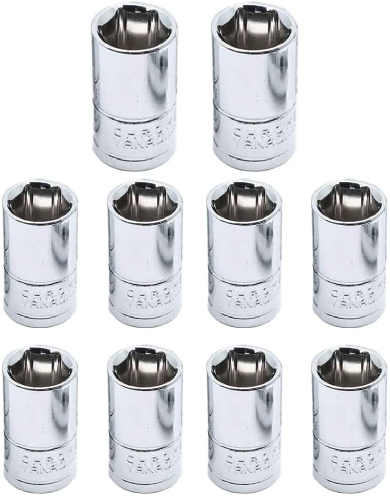 Dahszhi Shallow Opening large release sale Socket 1 4 Inch Year-end gift Drive -10pcs 10mm 6 Point