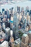 Poster 61 x 91 cm: Luftaufnahme des One World Trade Center,