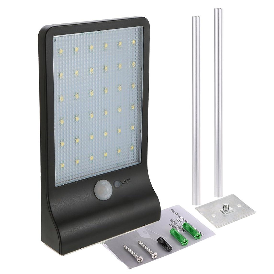 ケープ祖母喪Galapara ソーラーライト3.2V 3.5W 36 LED 450LM IP65防水ライト屋外ライトセーフティライト120°モーションセンサーライトリモートインストールライト屋外照明/庭/テラス/ドア/壁/庭/フェンス/階段(ポール付き)