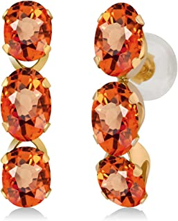 Best orange sapphire earrings yellow gold Reviews