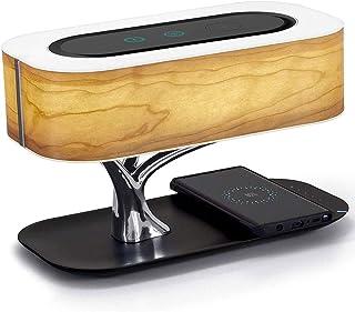 WYBFZTT-188 Lampe de Table LED Moderne for Chambre à Coucher Dimmable Bluetooth Haut-Parleur Chargeur de téléphone sans Fi...