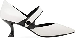 WHAT FOR Women's PS19WF018 White Leather Heels