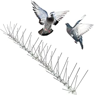 Bird-X Stainless Steel Bird Spikes, Covers 24 feet