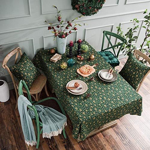 Navidad Verde Estampado En Caliente Mantel Campanilla