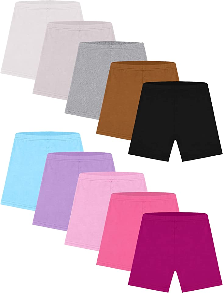 Resinta 10 Pack Dance Shorts Girls Bike Short Breathable and Safety 10 Color