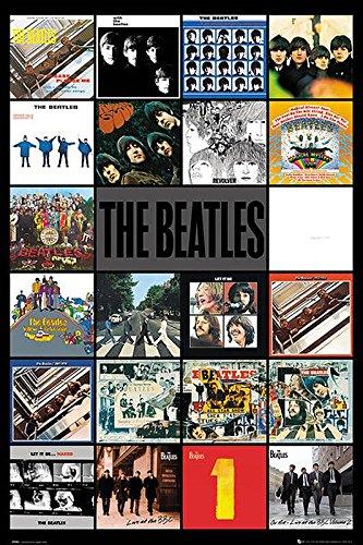 Le poster des pochettes d'albums des Beatles