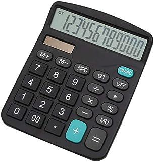 Calculator,YEBMoo 12-Digit Solar Battery Basic Calculator, Solar Battery Dual Power Office Calculator, with Large LCD Disp...