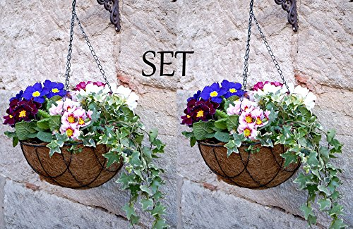LB H&F 2er Blumenampel Set Lilienburg Korb Home (30x30cm) Deko für Außen - Blumen-Ampel