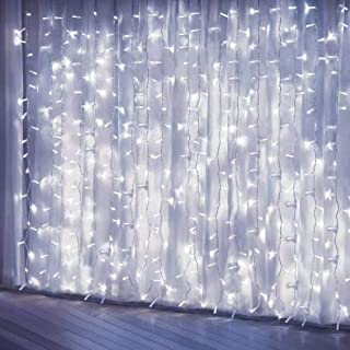 Curtain Lights, Upgrade 8 Lighting Modes Window Fairy Hanging Light, Icicle Christmas Ornaments Lights for Decoration Part...
