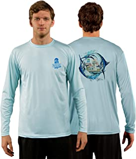 Red Tuna - Marina Casa de Campo Performance Quick Dry Long Sleeve Fishing Shirt for UV UPF 50+