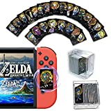 24Pcs The Legend of Zelda Breath of The Wild Mini NFC Cards, [Newest Version] The Wild Special Black Version Compatible with Switch/Lite Wii U - with Card Box