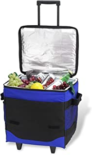 Picnic at Ascot Original 60 Can Collapsible Insulated Rolling Cooler- Designed & Quality Approved in the USA