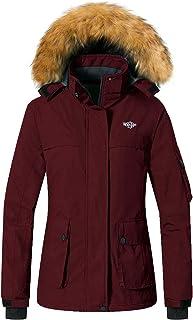 Wantdo Women`s Waterproof Ski Jacket Winter Snow Parka Mountain Rain Coat