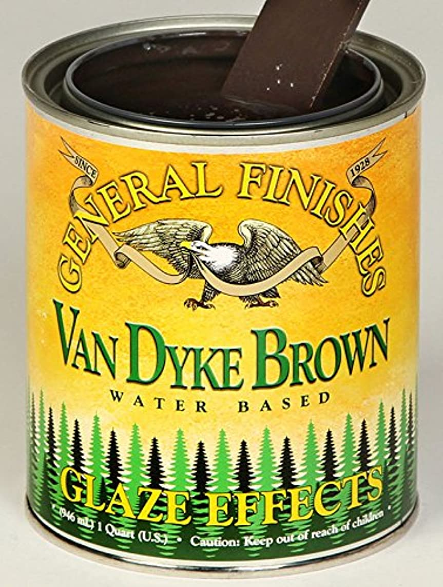 General Finishes Water Based Glaze Effects, 1 Quart, Van Dyke Brown