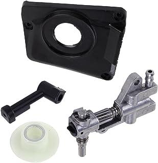 LETAOSK Ölpumpe und Abdeckung mit Rohr und Schnecke Kompatibel mit chinesischer Kettensäge 4500 5200 45cc 52cc