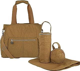 Suvelle RFID Blocking Handbag Purse Large Travel Tote Stylish Baby Diaper Bag Multi Functional Lightweight Organizer With Changing Pad & Stroller Straps Water Resistant Nylon 4 Pcs Set