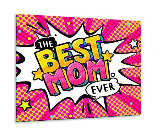 QTA | fornuisafdekplaat 60 x 52 cm keramische afdekking 1-delig universeel elekrofornuis inductie voor kookplaten fornuis spatbescherming snijplank Best Mom