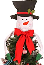 blingdeals Bow Christmas Tree Topper Snowman Santa Claus Hat Ornament Decoration New Year