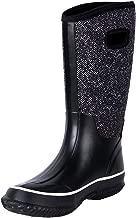 WTW Women's Rubber Neoprene Snow Boots Winter Warm Waterproof Insulated Barn Rain Boots for Ladies