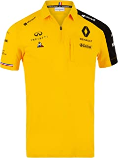 2019 Official Mens Polo Shirt Yellow Formula One Merchandise