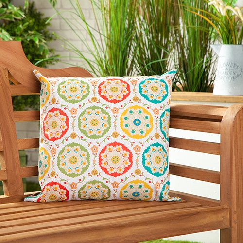 Samarkand Water Resistant Outdoor Scatter Garden Furniture Filled Cushion Printed 18' (45cm)