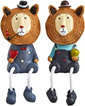 Desktop Decoration 2 Pcs Long Leg Dolls, Resin Crafts Creative Lion Hanging Doll, Sitting Leg And Movable Hand Puppet Home...