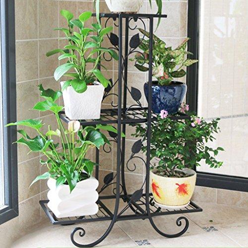 PLL Style Européen Multifonctionnel Fer Art Fleur Stand Plancher Balcon Intérieur et Extérieur Salon Décoratif Plante Rack