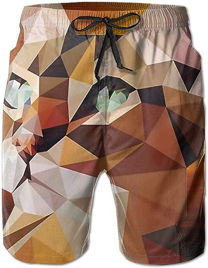 ShaVonNa Mens Beachwear Cute Panda Eating Taco Summer Surf Board Shorts Home Shorts Cargo Swim-Trunks With Pockets