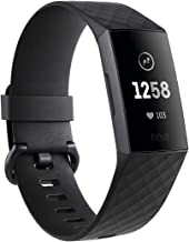 Fitbit Charge 3, Advanced Fitness Tracker, with Heart Rate, Swim Tracking & 7 Day Battery, Graphite/Black