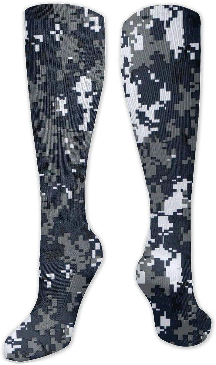 Pixel Camo Knee High Socks Leg Warmer Dresses Long Boot Stockings For Womens Cosplay Daily Wear