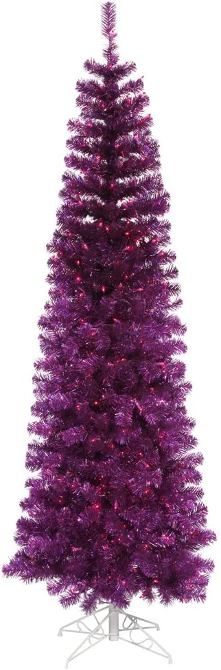 Vickerman 55' Purple Pencil Artificial ! Super beauty product restock quality top! with Tree Christmas 250 High order P