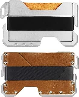 JEXICASE Dapper EDC Wallet-Genuine Leather, CNC Alum, RFID Blocking Card Bag Card Cases Money Organizers Brown B