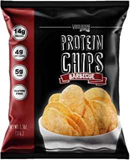 Protein Chips, 14g Protein, 3g-4g Net Carbs, Gluten Free, Keto Snacks, Low Carb Snacks, Protein Crisps, Keto-Friendly, Made in USA (Barbecue, 7 Pack)