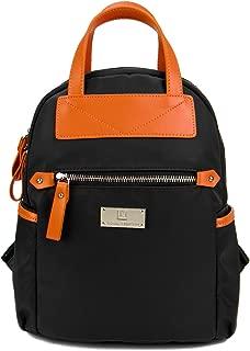 Louis Montini Women's Nylon Bag Backpack Travel Shoulder Bag Women Women Bag (blackorange)