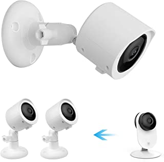 Koroao Wall Mount + Weatherproof Case for YI Home Camera - Indoor/Outdoor Security Bracket More Stable and Flexible(2-Pack...