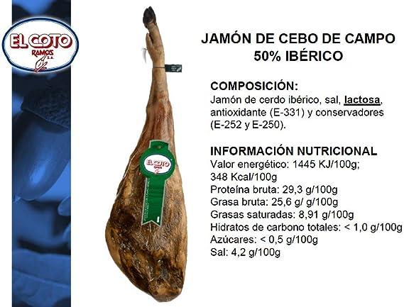 Jamón ibérico de cebo de campo de GUIJUELO (50% raza ibérica ...
