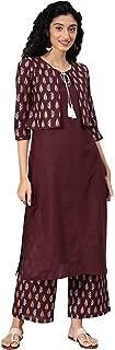 ZIYAA Women's Cotton Straight Salwar Suit Set