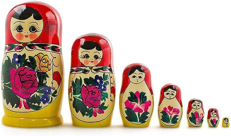 Matryoshka Russian Soviet Army Ranks Souvenir Russian Nesting Doll Set 7 Pс